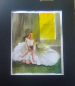 Ballerina,Water color Painting,