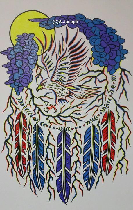 Thunderbird - Native art by Allan Joseph