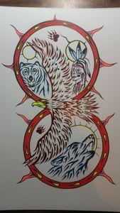 Eagle n bear n wolf