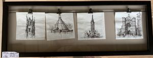 Cocktail Napkin sketches - shadowbox