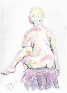 Blond Woman in Chalk 2/3