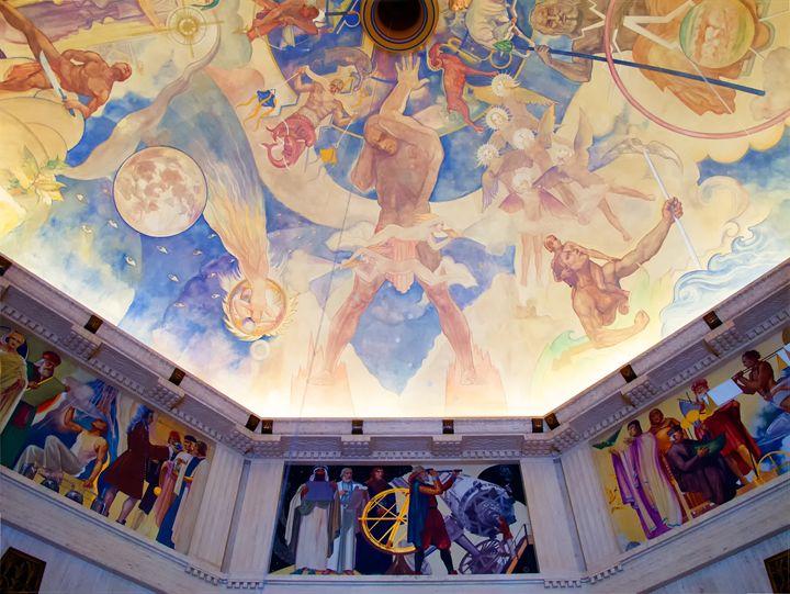 Griffith Observatory Ceiling Art - Ram Vasudev