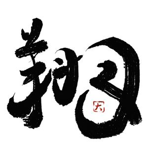 "Japanese Calligraphy ""FLY IN SKY(翔)"""