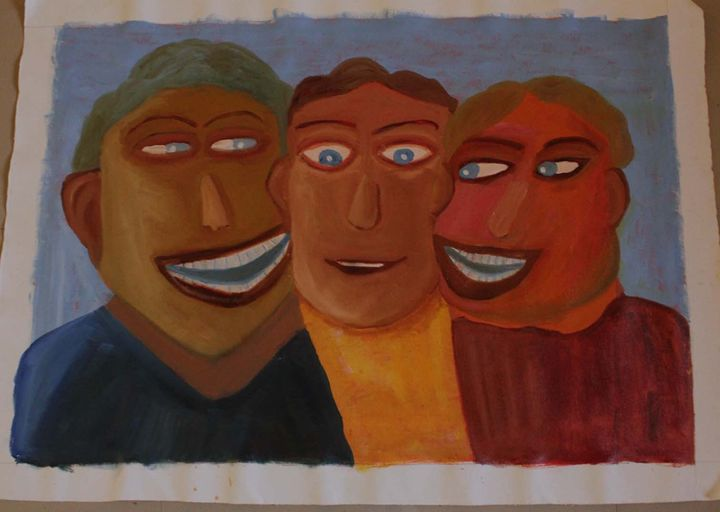 Gossiping Friends - Byjunath Art