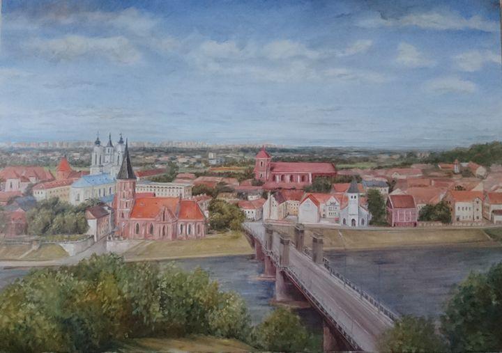 Kaunas old town - Kristina Lao Art
