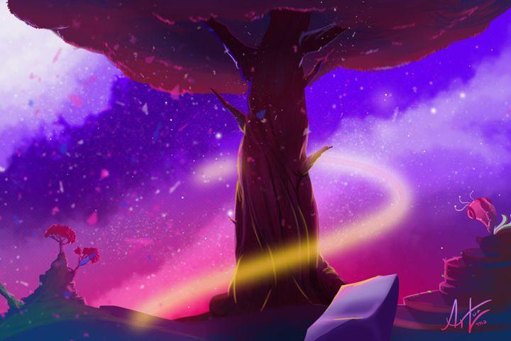 Viva! The tree's alive! - Digital Painting