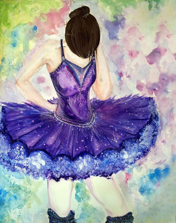 Purple Dancer - ArtsSie Desgins