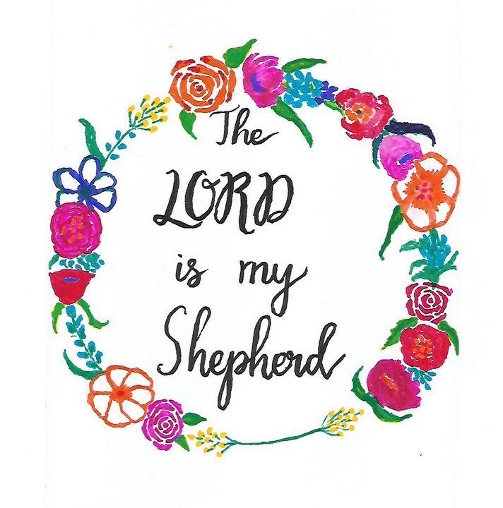 The LORD is my Shepherd - Christian Art by Sneha