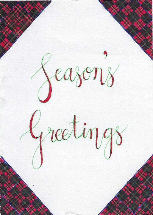 Season's Greetings - Christian Art by Sneha