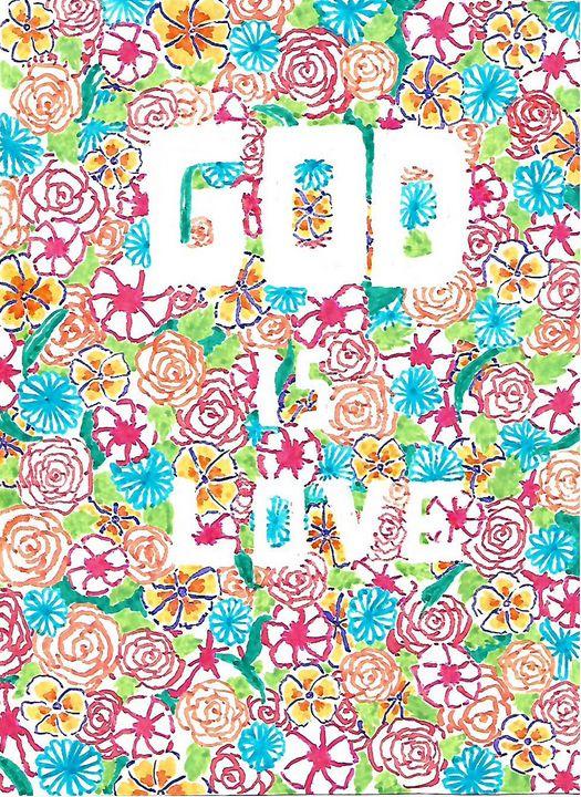 GOD is Love - Christian Art by Sneha