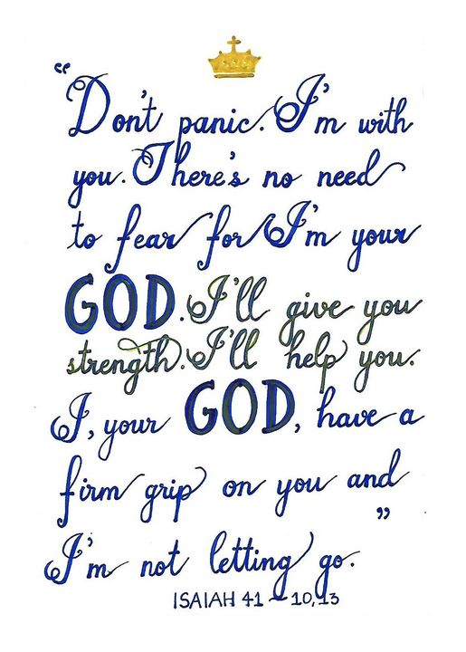 GOD is with you - Christian Art by Sneha