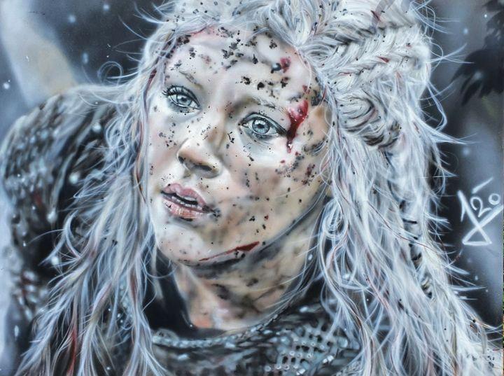 Lagertha - vikings - STUDIO J-ART AIRBRUSHING