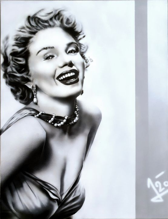 Marilyn Monroe - STUDIO J-ART AIRBRUSHING