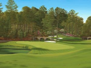 11 and 12 greens at the masters