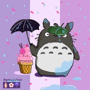 Totoro and little ice cream