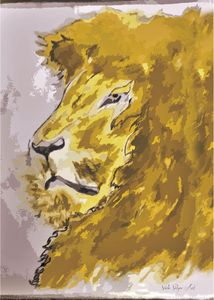 Majestic Lion - Dominic Sikopo Art