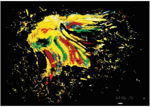 The Rainbow Eagle - Dominic Sikopo Art