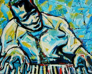 Jazz Pianist abstract