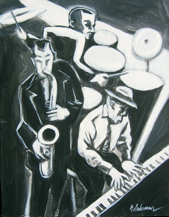 Jazz Trio in black and white - Robert Lederman