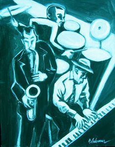 Jazz Trio in Blue