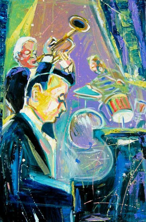 Jazz Trio in Blue and Green - Robert Lederman