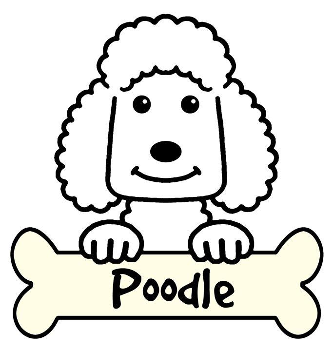 Poodle Cartoon - Anita Valle Art