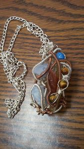 Wire wrapped necklace -  Kelsey.enea