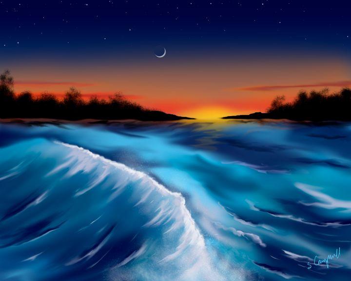 Ocean Sunset - EtaGemini Art