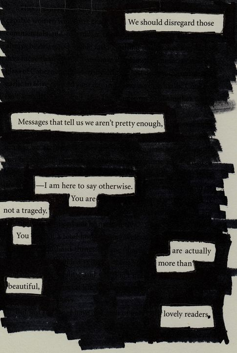 You are not a Tragedy - Poetry From Books