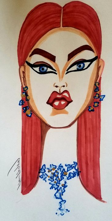 Aline redhead - Art by Nour