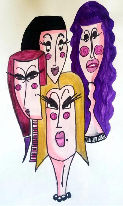 Ladies in Blush - Art by Nour