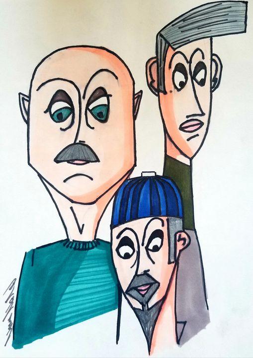 Dudes - Art by Nour