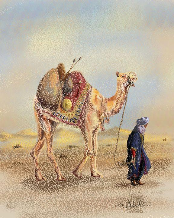 Arab Painting - Junaid Ameer Work