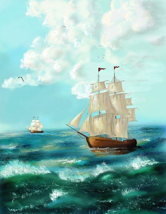 Ship in the Sea - Junaid Ameer Work