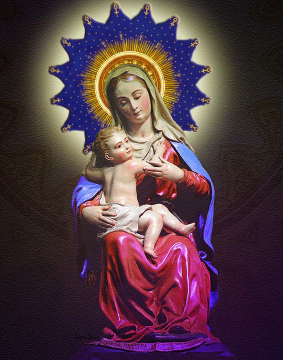 Holy virgin maria with Baby Jesus - EJL Designs