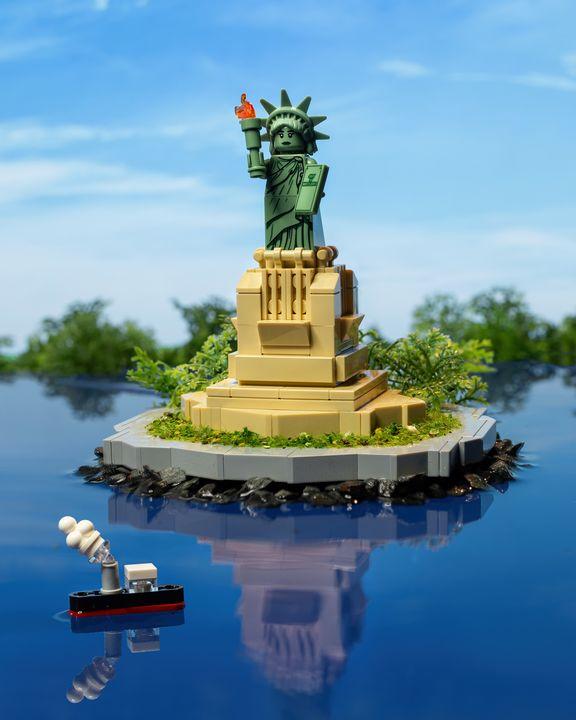 Statue of Liberty - Lego prints