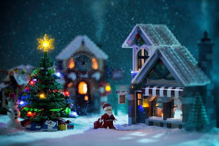 Christmas Night - Lego prints
