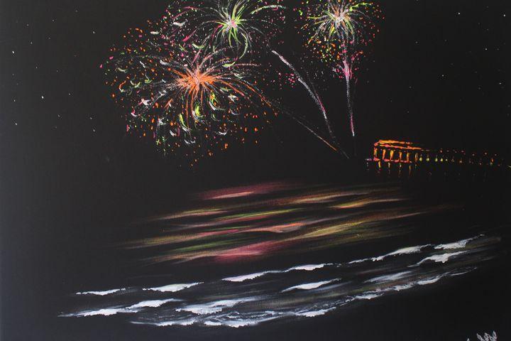 Fireworks Off Daytona Pier - Kris W