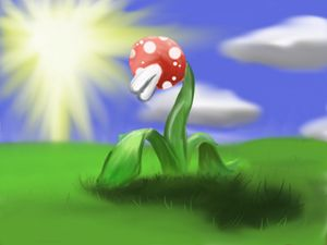 Mario flowering the sun