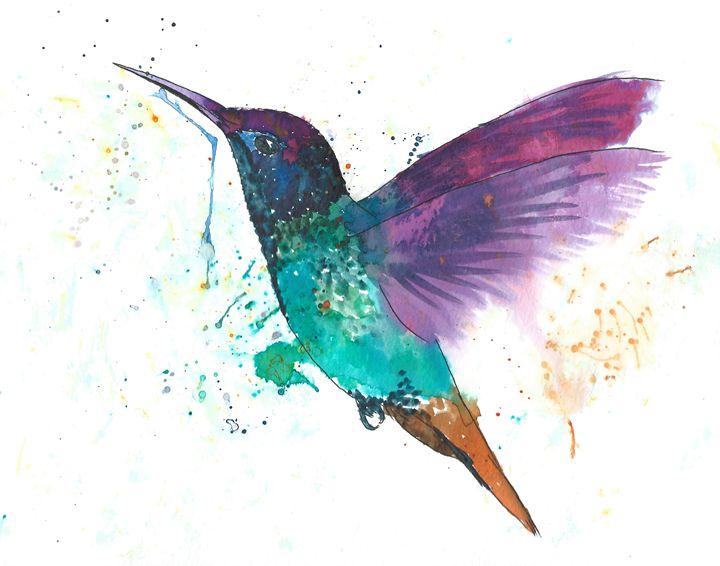 Hummingbird in flight - Skullianz