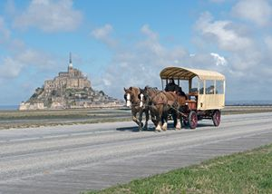 Mont St. Michel - Horse & Carriage