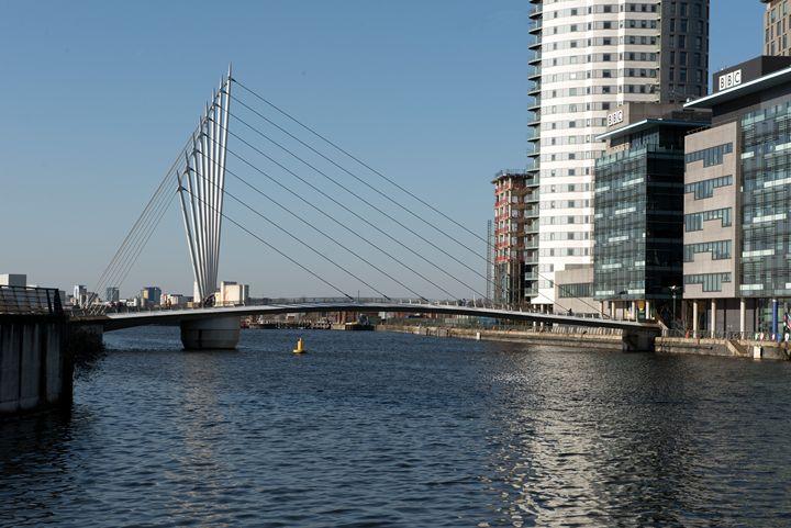 Suspension Bridge - Salford Quays - MonksArt