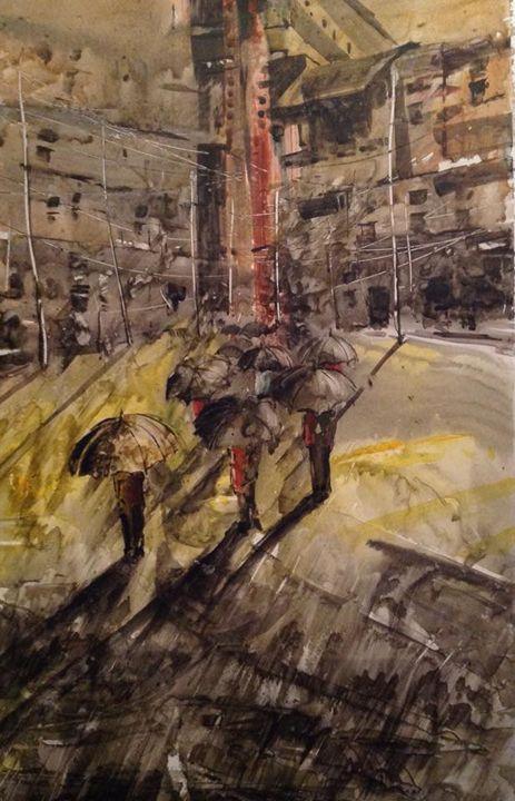 city rain - guffar babu gallery