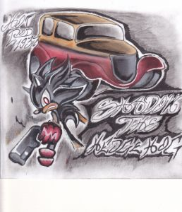 Shadow the Hedgehog and his Hotrod - Designs by Joseph