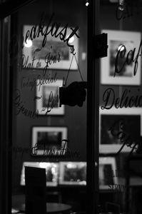 a shop's vitrine