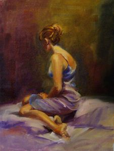 Female Model Painting