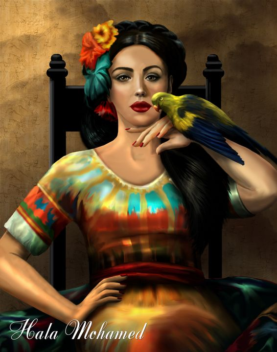 THE GIRL WITH THE BIRD - women