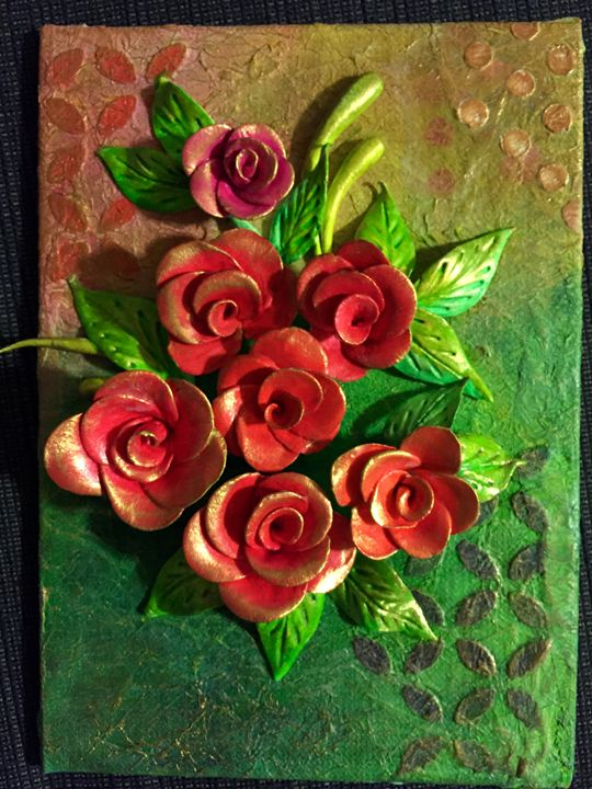 Red rose - Canvas paintings