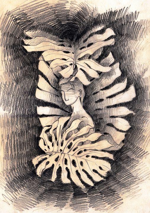 Woman Behind leaves - Ar. Abhay Gupta