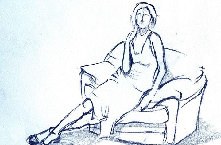 woman sitting on sofa - Ar. Abhay Gupta